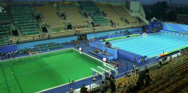 ¿Qué pasó en el agua de la piscina de Río 2016?